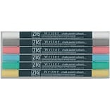 Zig Memory System 6 Piece Writer Chalk Pastel Dual Tip Markers Set