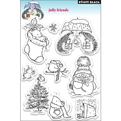 Penny Black® 5 x 7 1/2 Clear Stamp, Jolly Friends