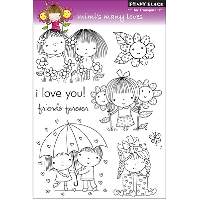 Penny Black® 5 x 7 1/2 Clear Stamp, Mimis Many Loves