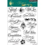 Penny Black® 5 x 7 1/2 Clear Stamp, Gratitude