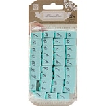 Prima Marketing 1/4 Alphabet Stamp Set, Characters-#1