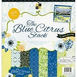 Diecuts With A View® Blue Citrus Paper Stack, 12 x 12, 48/Pack