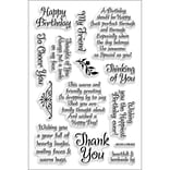 Stampendous® 4 x 6 Perfectly Clear Stamp, Friendly Phrase