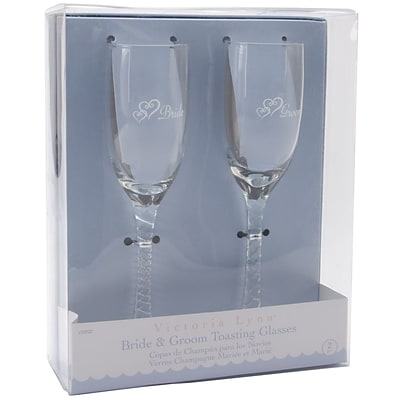 Darice® Bride Groom 8 Twisted Champagne Glasses