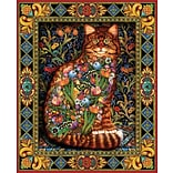 White Mountain Puzzle 24 x 30 Jigsaw Puzzle,  Tapestry Cat