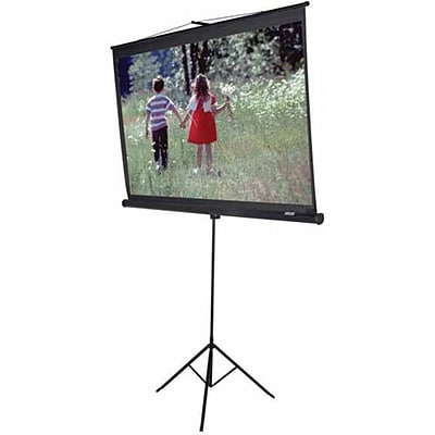 Elite Screens® Tripod Series 120 Manual Projection Screen; 4:3, White Casing