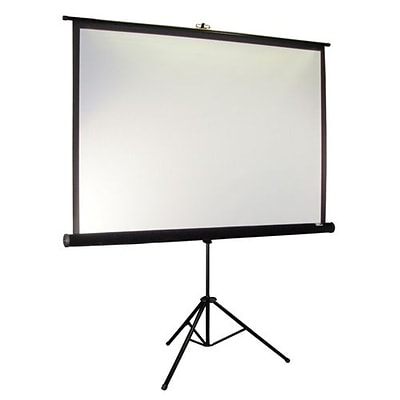 Elite Screens® Tripod Pro Series 99 Portable Projection Screen; 1:1, Black Casing
