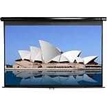 Elite Screens® Manual Series 139 Projection Screen; 16:10, Black Casing