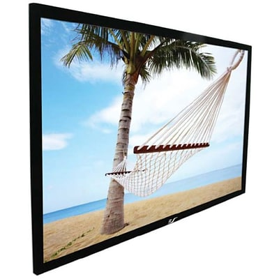 Elite Screens® ezFrame Series 92 Fixed Frame Projection Screen; 16:9, Black Casing