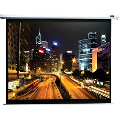 Elite Screens® Manual B Series 100 Manual Projection Screen; 1:1, White Casing