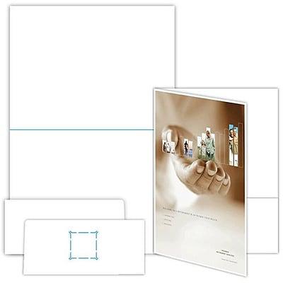 blanks usa 9 x 12 80 lbs gloss cover printable folder white 50