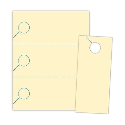 Blanks/USA® 3.67 x 8 1/2 147 GSM Digital Cover Door Hangers, Ivory, 150/Pack