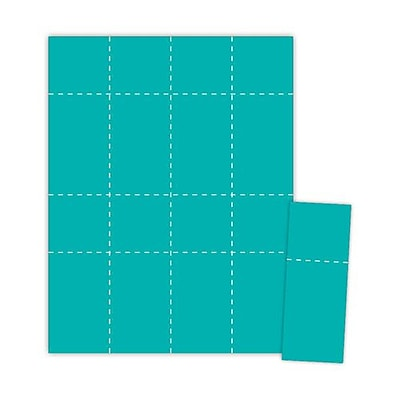 Blanks/USA® 2 1/8 x 5 1/2 Digital Cover Event Ticket, Teal, 1000/Pack