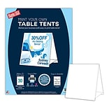 Blanks/USA® 4 1/4 x 5 1/2 90 lbs. Table Tent, White, 30/Pack