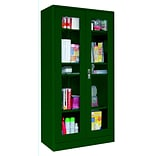 Sandusky® Elite 36 x 18 x 72 Radius Edge Clearview Storage Cabinet, Forest Green