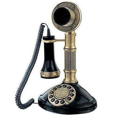 Paramount® AW1897S Column 1897 Candlestick Reproduction Phone;  Silver