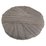 Global Material 17 #2 Radial Steel Wool Floor Pad, Gray
