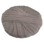Global Material 17 #1 Radial Steel Wool Floor Pad, Gray