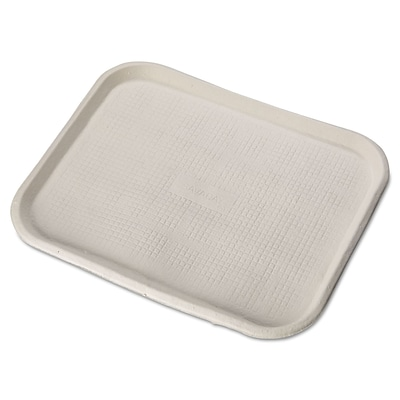 Chinet® FARM Food Tray, White, 14(W) x 18(Dia), 100/Pack
