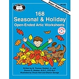 Super Duper® 168 Seasonal and Holiday Open-Ended Artic Worksheets Book