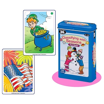 Super Duper® Classifying With Seasons Fun Deck Cards