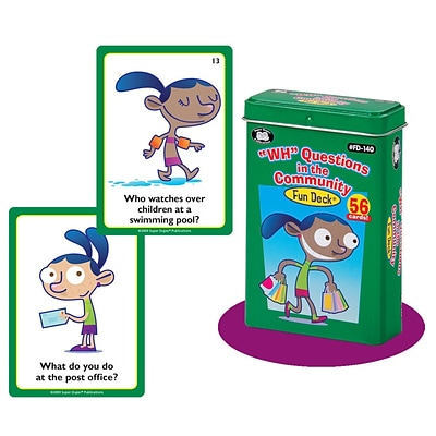 Super Duper® WH Questions in the Community Fun Deck Cards