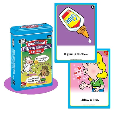 Super Duper® Conditional Following Directions Fun Deck Cards