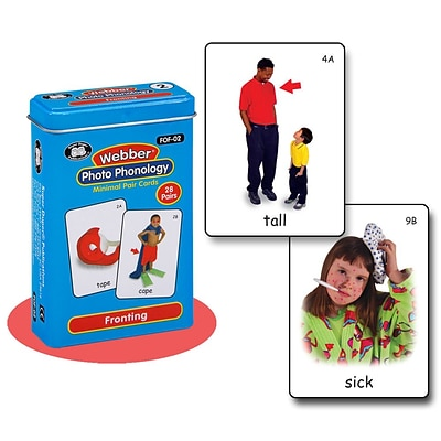 Super Duper® Webber® Fronting Photo Phonology Deck Cards