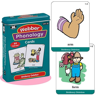Super Duper® Webber® Stridency Deletion Phonology Deck Cards