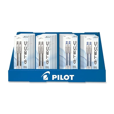 Pilot G-TEC-C4 0.4 mm Gel Pen Asst, 2/Pack, Clear