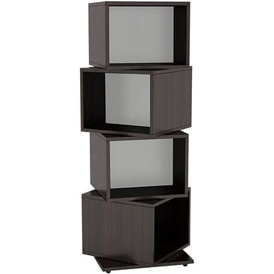 Atlantic® 11 1/2 4 Rotating Cube 216 Disc Media Tower; Espresso