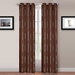 Trademark Global® Lavish Home Katrina 2 Panel Grommet Curtain, Light Brown