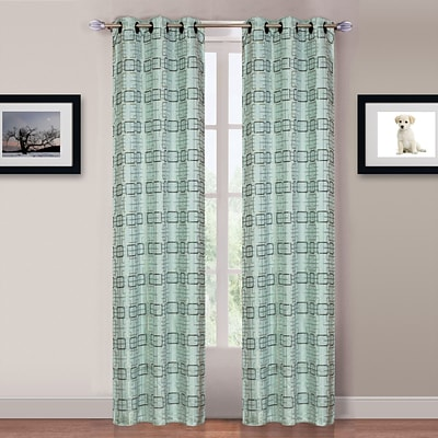 Trademark Global® Lavish Home Katrina 2 Panel Grommet Curtain, Blue