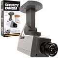 Trademark Global® 72-1463 Rotating Imitation Security Camera With LED Light