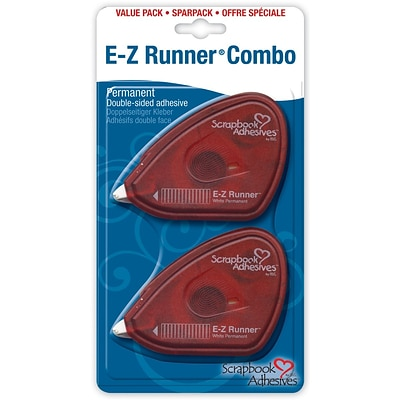3L E-Z Runner 3/8 x 56 Permanent Double-Sided Adhesive, 2/Pack