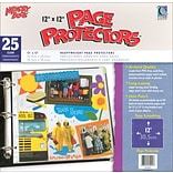 C-Line Memory Book Top - Load Page Protectors, 12 x 12, Clear