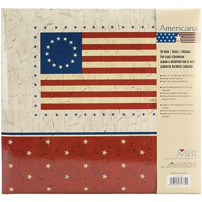 MBI American Flag Postbound Album, 12 x 12, Red/Blue/White