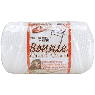Pepperell 100 yds. Bonnie Macrame Craft Cord, White