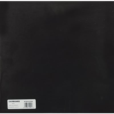 Grafix® 12 x 12 Medium Weight Chipboard Sheets, Black, 25/Pack