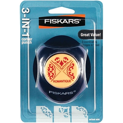 Fiskars® 3-in-1 Corner Punch, Romantique