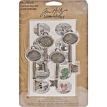 Advantus™ Tim Holtz® Idea-Ology Collage Keys, 2 3/4 x 1, Antique Silver