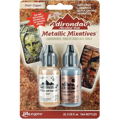 Ranger Tim Holtz® Adirondack Alcohol Ink Metallic Mixatives, Pearl/ Copper
