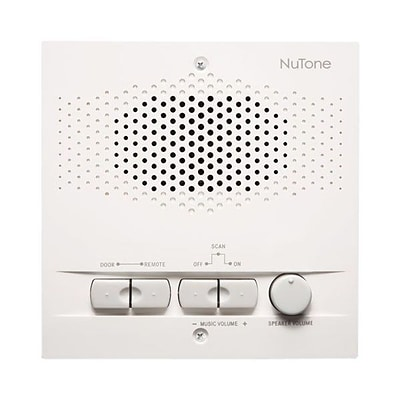 NuTone® NRS103 Indoor Remote Station For 3-Wire Intercom Systems; White