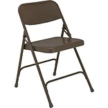 NPS #203 Premium All-Steel Folding Chairs, Brown/Brown - 52 Pack