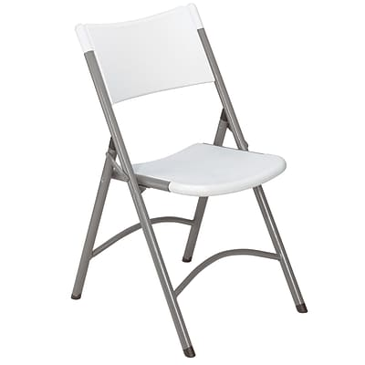 NPS #602 Blow Molded Folding Chairs, Speckled?Grey/Textured Grey - 100 Pack
