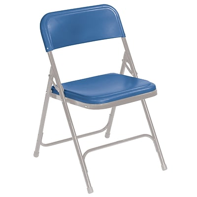 NPS #805 Premium Light-Weight Plastic Folding Chairs, Blue/Grey - 52 Pack