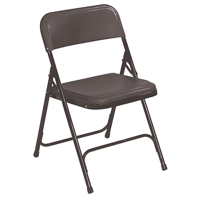 NPS #810 Premium Light Weight Plastic Folding Chairs, Black/Black   100