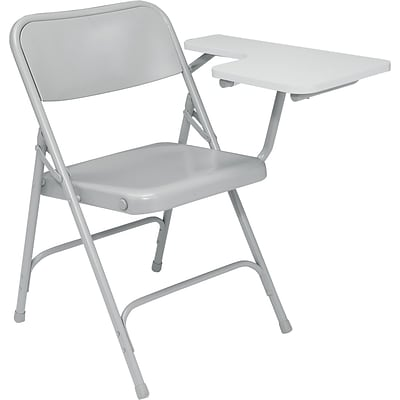 NPS #5202L High Pressure Tablet-Arm Premium Folding Chairs, Grey tablet arm/Grey - 2 Pack