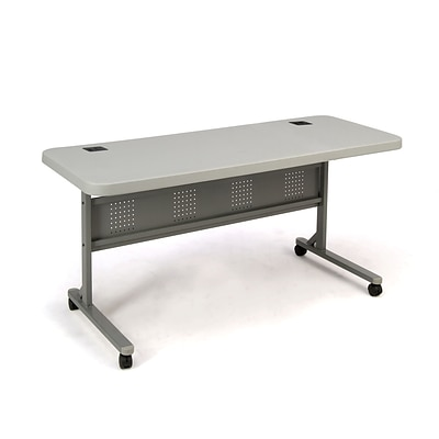 NPS #BPFT-2460 24 x 60 Flip-N-Store Table, Speckled Grey /Grey Hammer-Tone- 4 Pack