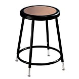 NPS® 19 - 26 1/2 Hardboard Round Adjustable Stool, Black, 5/Pack